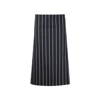 ChefsCraft 3/4 Cafe Apron Navy Stripe
