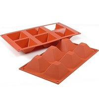 Silicone Pyramid Mould 6 Cup 90ml 71x71x40mm