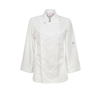 ChefsCraft Ladies Exec Lightweight Chef Jacket L/S White