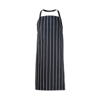 ChefsCraft Full Bib Cafe Apron Navy Stripe