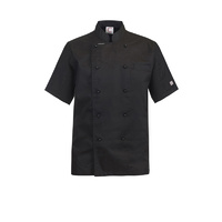 ChefsCraft Exec Lightweight Chef Jacket S/S Black