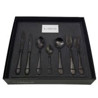 Soho Ink Black Cutlery 56pc Set