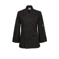 ChefsCraft Ladies Exec Lightweight Chef Jacket L/S Black