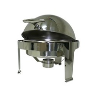 Chafer - Round Rolltop Stainless Steel Stackable