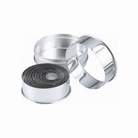 Cutter Set - Stainless Steel Round Plain 14pcs Size:25 - 115mm - Set