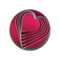 Cutter Set - Stainless Steel Heart 6pcs Size: 50 - 90mm - Set