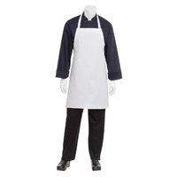Chef Works - White Bib Apron No Pocket