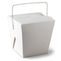 240ml White Noodle Box with Handle