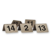 Table Numbers A-Frame Stainless Steel  50x50cm  Set 11 - 20