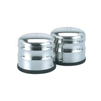 Salt&Pepper Shaker-Stainless Steel Jumbo 18/8 - Pair
