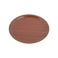 Tray-Wood Round 370mm Mahogany