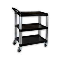 Utillity Trolley 3 Shelf Black - 1060 x 480 x 1000mm