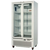 Williams Double Upright Glass Door Fridge HQ28GDCB