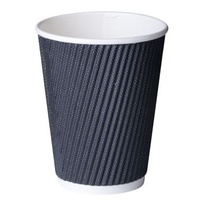 Black Paper 12oz Comfy Touch Hot Cup