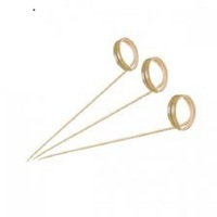 Twist-Shaped Bamboo Skewers 120mm - 100 pcs