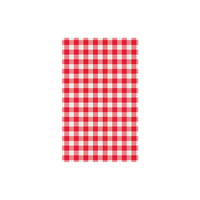 Greaseproof Paper Red Gingham 190 x 310mm (200)