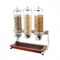 SUNNEX - Cereal Dispenser-Triple, 3X4.0Lt  WOOD BASE