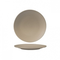 """ZUMA"" SAND -  Round Coupe Plate-Ribbed, 210mm Qty - 6"