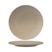 """ZUMA"" SAND -  Round Coupe Plate-Ribbed, 265mm Qty - 6"