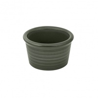 """ZUMA"" OLIVINE -  Ramekin-Ribbed, 85x50mm Qty 6"