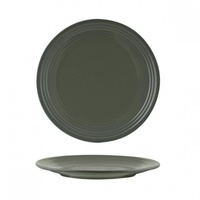 """ZUMA"" OLIVINE -  Round Coupe Plate-Ribbed, 265mm Qty 6"