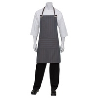 Chef Works Brooklyn Chocolate/Blue Bib Apron