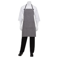 Chef Works Brooklyn Black/Grey Bib Apron