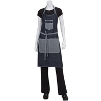 Chef Works Bronx Indigo Blue Denim Bib Apron With Scoop Neck