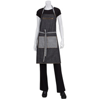 Chef Works Manhattan Black Denim Bib Apron