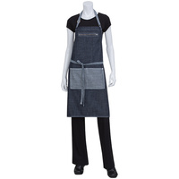 Chef Works Manhattan Indigio Blue Denim Bib Apron