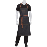 Chef Works Memphis Black Denim Bib Apron