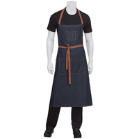 Chef Works Memphis Indigo Blue Denim Bib Apron