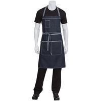 Chef Works Bronx Indigo Blue Denim Bib Apron