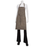 Chef Works Dorset Earth Brown Bib Apron