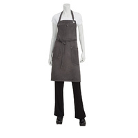 Chef Works Dorset Pewter Bib Apron