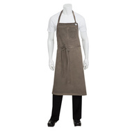 Chef Works Dorset Earth Brown Large Bib Apron