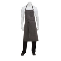 Chef Works Dorset Pewter Large Bib Apron