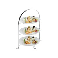 High Tea Stand 3-Tier Chrome Plated 430mm x 260mm
