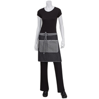 Chef Works Bronx Black Denim Half Apron