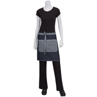 Chef Works Bronx Indigo Blue Denim Half Apron
