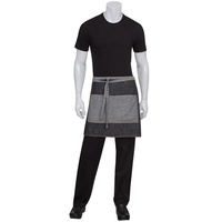 Chef Works Manhattan Black Denim Half Apron