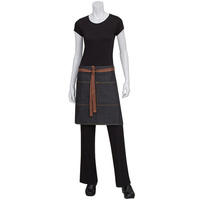 Chef Works Memphis Black Denim Half Apron