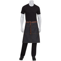 Chef Works Memphis Black 3/4 Denim Apron