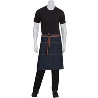 Chef Works Memphis Indigo Blue 3/4 Denim Apron