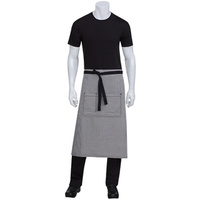 Chef Works Portland Black Denim 3/4 Apron