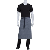 Chef Works Portland Indigo Blue Denim 3/4 Apron