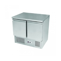Snowman Economy Stainless Steel 2 Solid Door Bench Fridge