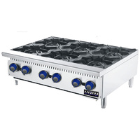 Gas Benchtop Open Burner Cook Top - 6 Burner LPG or NG 915mm
