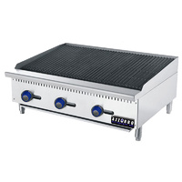Gas Benchtop Char-Grill - 3 Burner LPG or NG 915mm