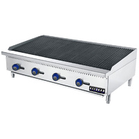 Gas Benchtop Char-Grill - 4 Burner LPG or NG 1219mm